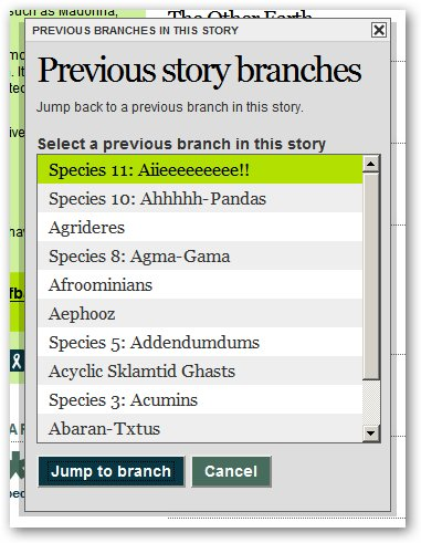 New feature: Navigate to previous story branches