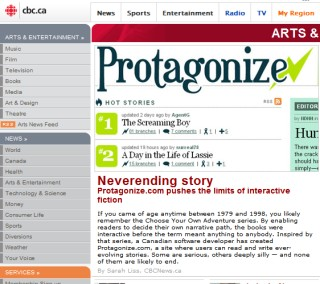 protagonize: community-driven interactive fiction