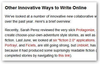 collaborative writing article on readwriteweb