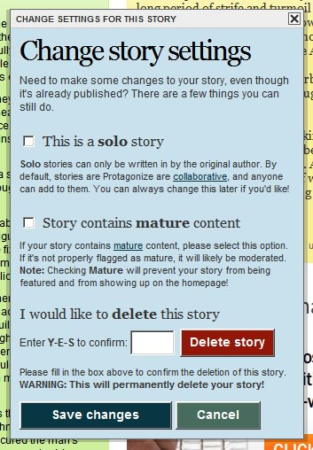 New feature: Story settings