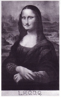 "Marcel Duchamp's derivative ""Mona Lisa with a Mustache"""